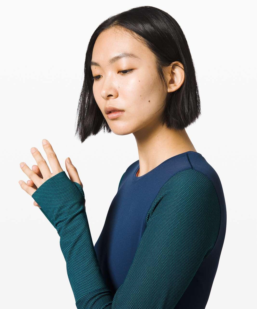 Lululemon My Element Long Sleeve *lululemon x Roksanda - True Navy / Arctic Teal