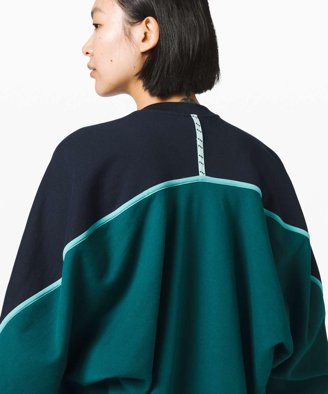 Lululemon Face Forward Sweatshirt *lululemon x Roksanda - True Navy / Emerald / Arctic Teal