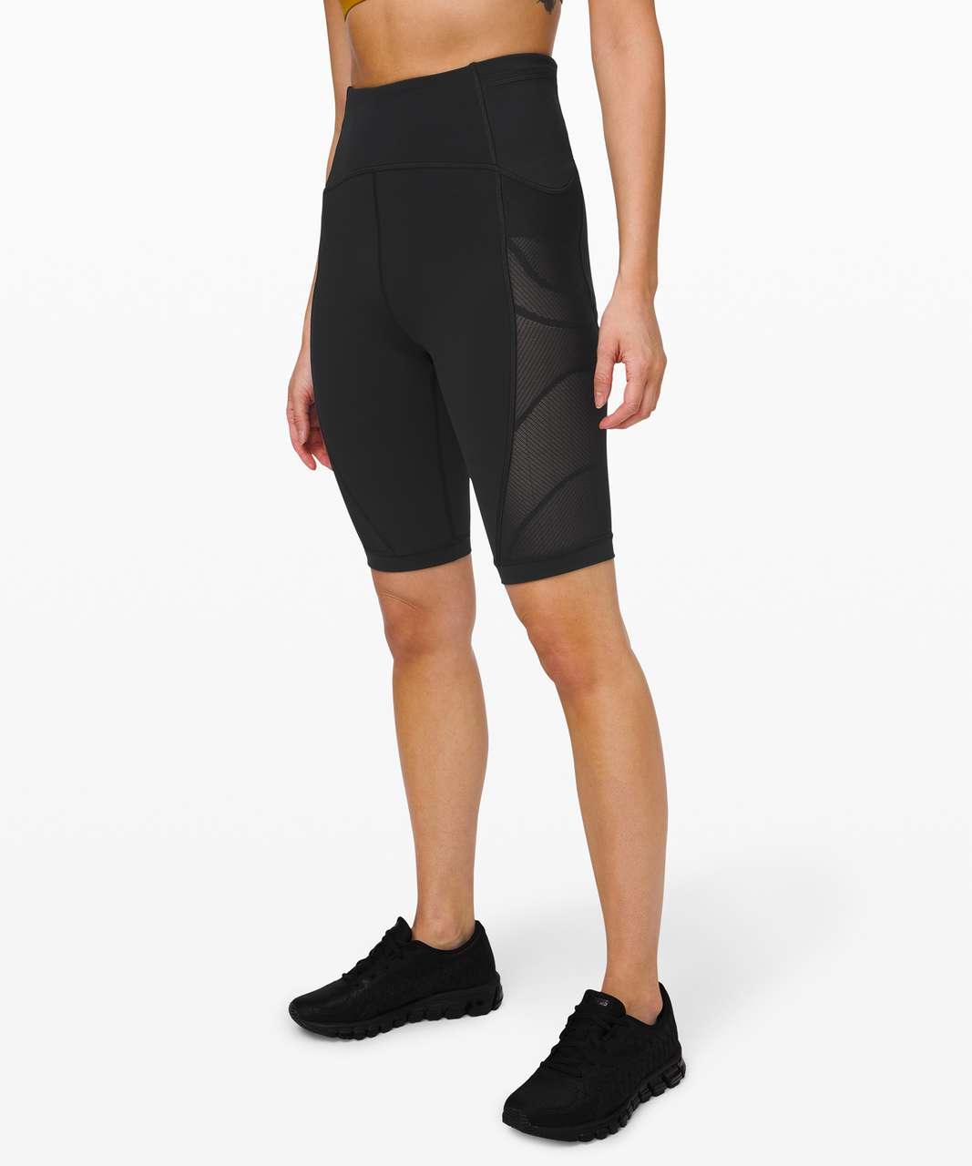 "Lululemon Sheer Will High-Rise Short 10"" *Pulse - Black"