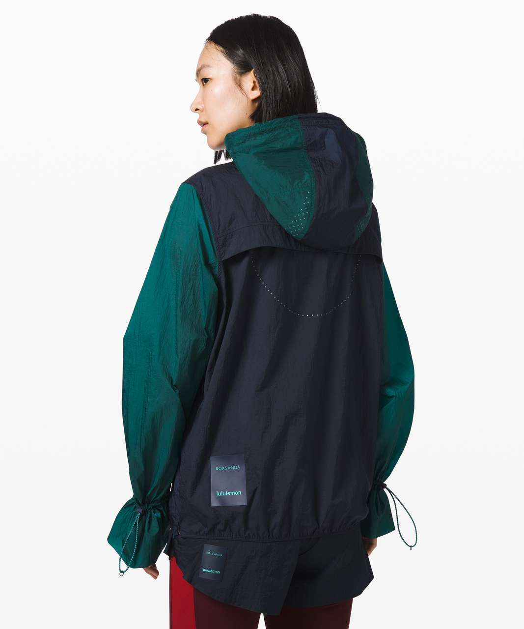 Lululemon Break New Ground 1/2 Zip *lululemon x Roksanda - True Navy / Emerald / Emerald