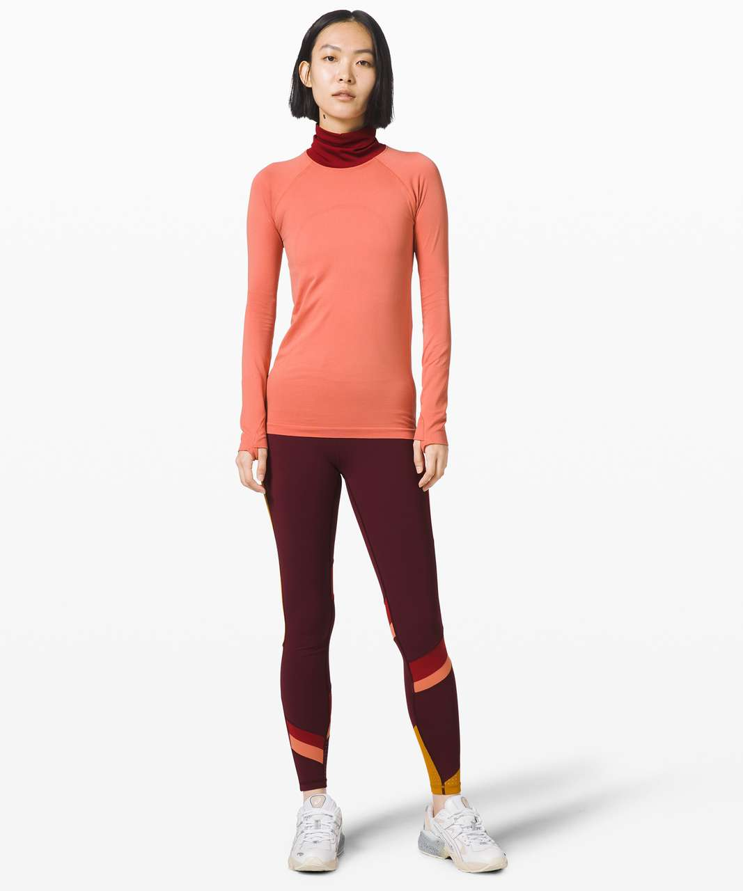 "Lululemon Break New Ground Tight 28"" *lululemon x Roksanda - Garnet / Caliente / Rustic Coral"