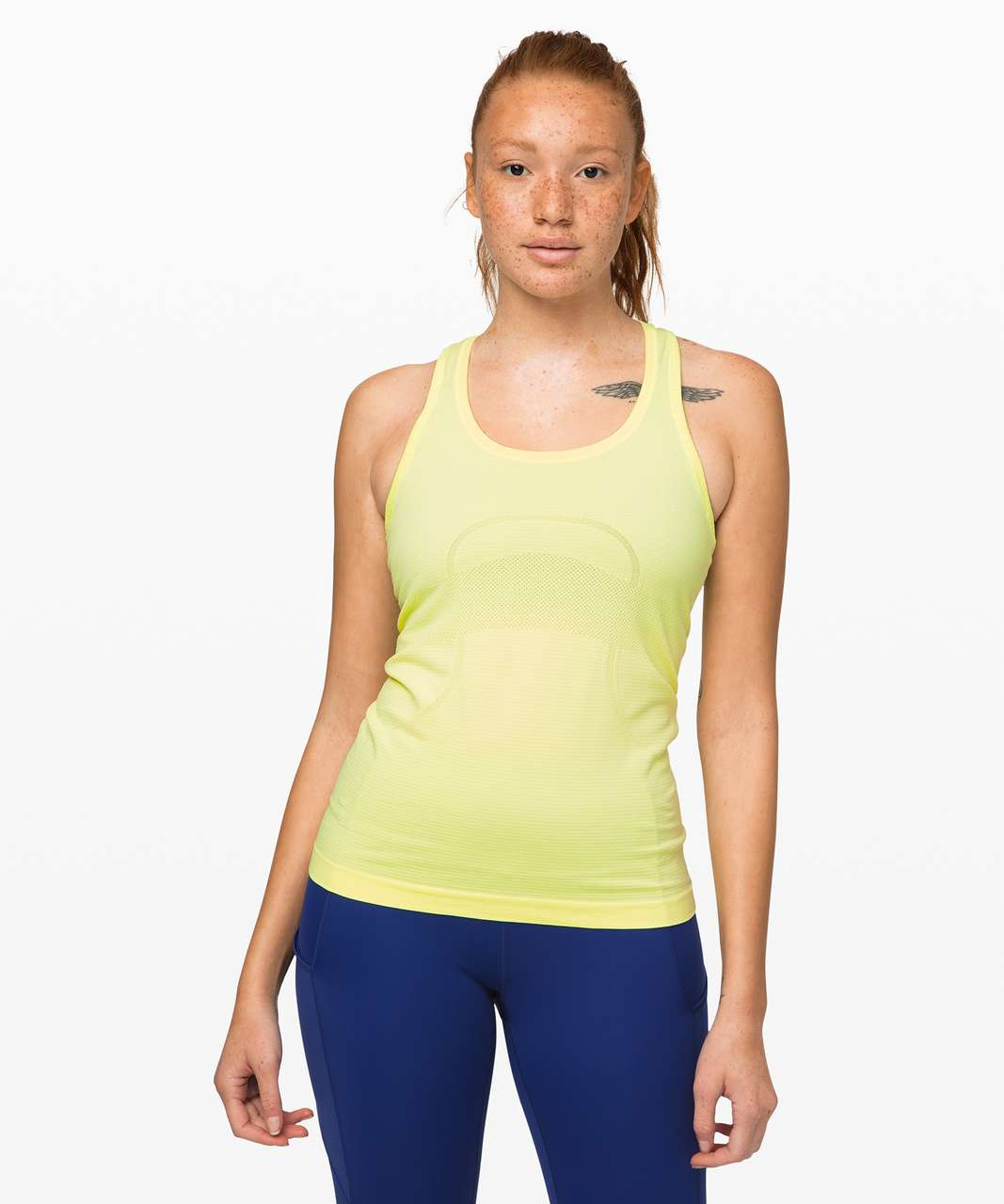 Lululemon Swiftly Tech Racerback - Florid Flash / White