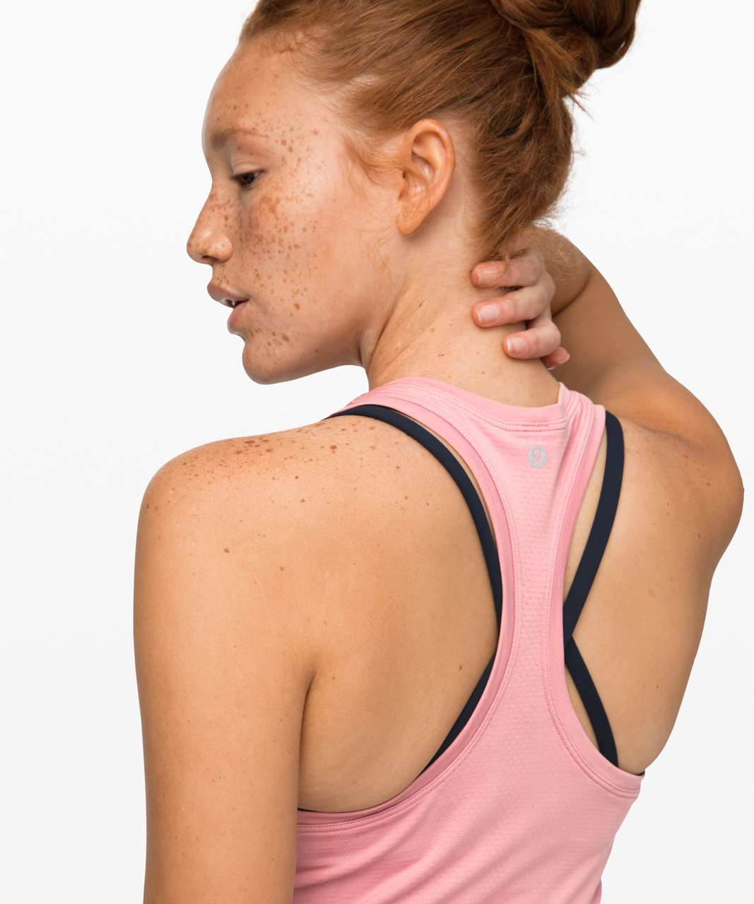 Lululemon Swiftly Speed Tank *Cinch - Pink Taupe / Pink Taupe