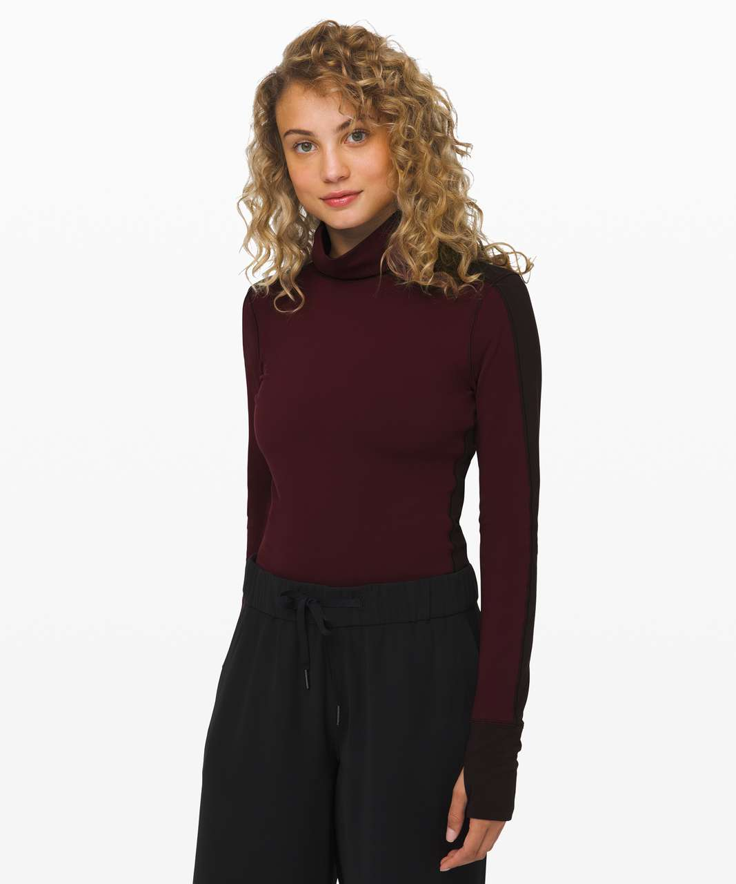 Lululemon Rest Refined Bodysuit - Garnet / Sequoia