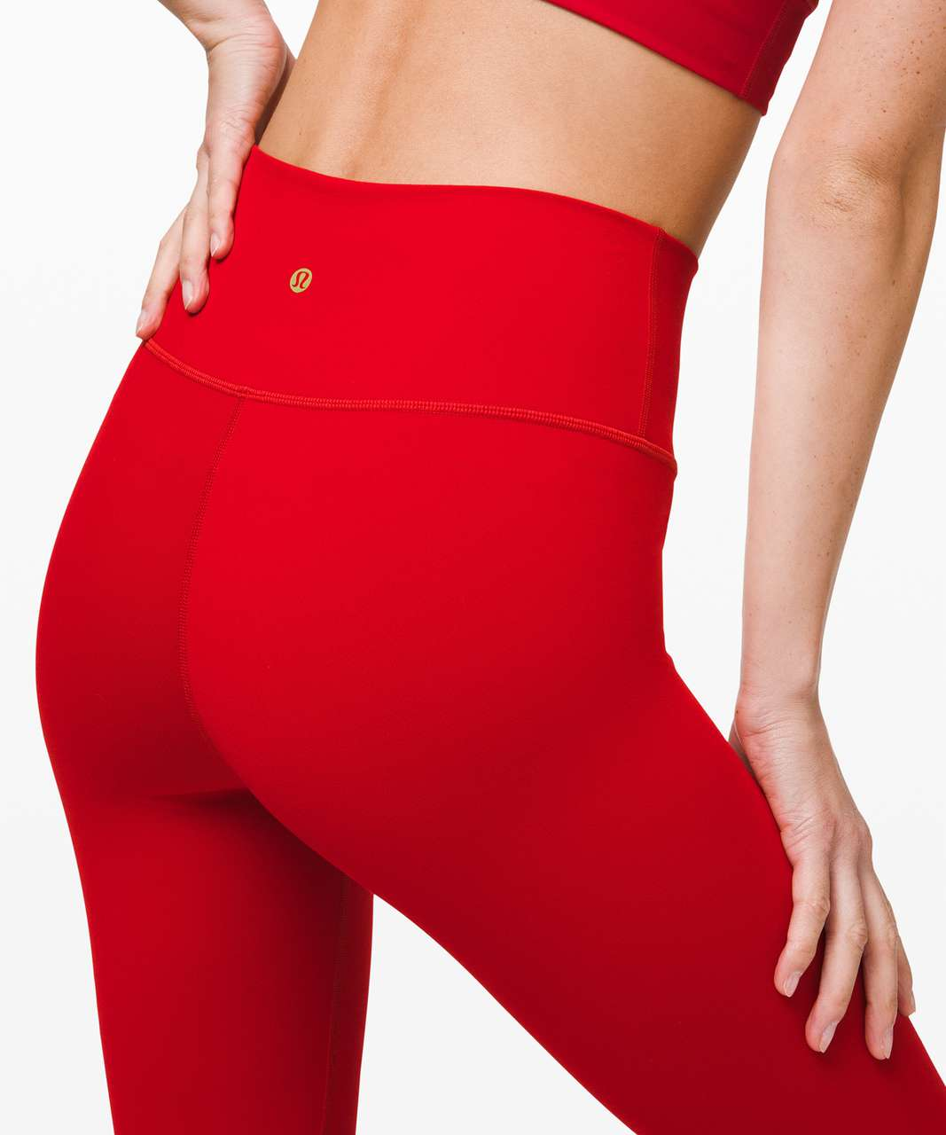 "Lululemon Wunder Under High-Rise Tight 25"" *Lunar New Year - Dark Red"
