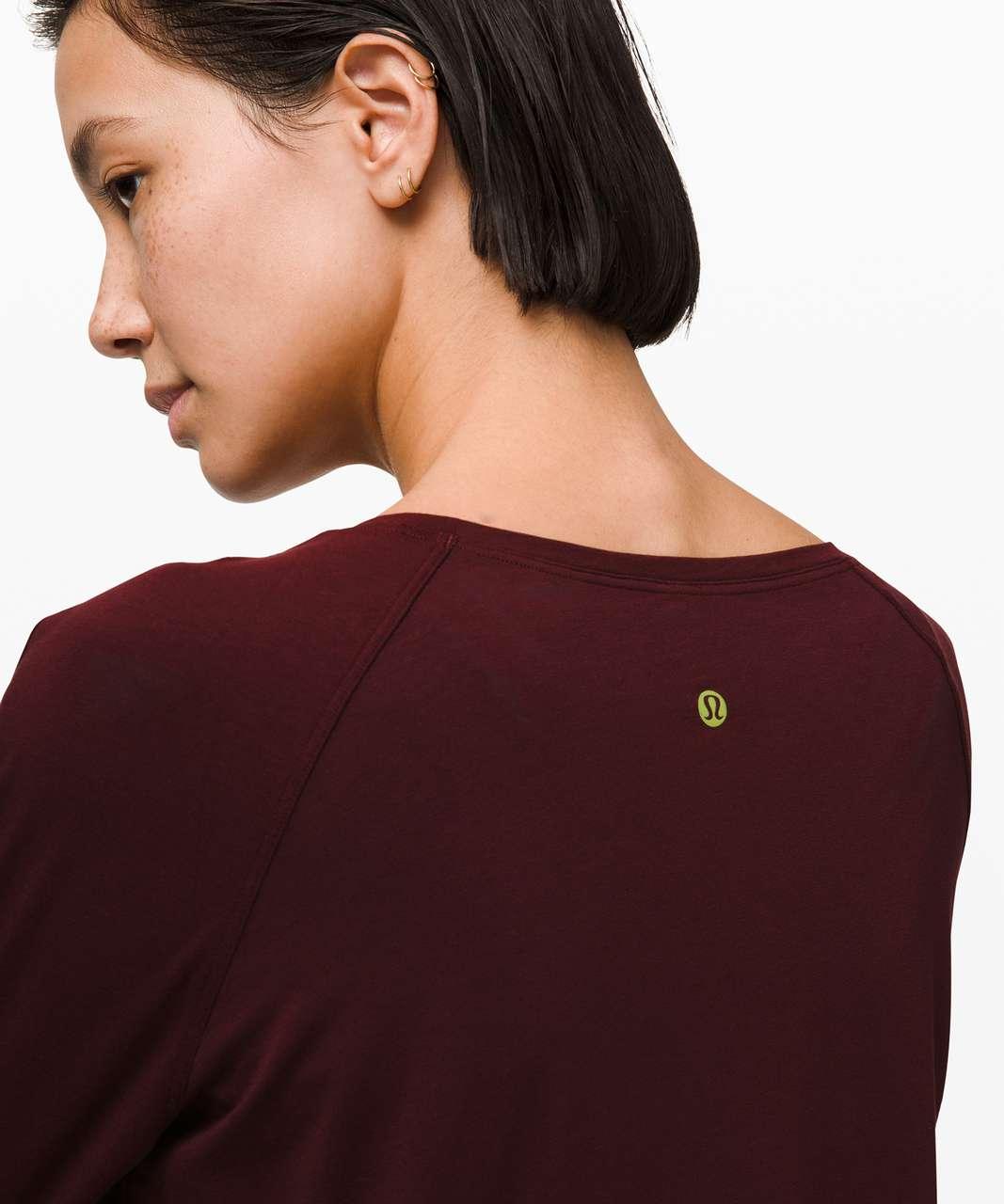 Lululemon Emerald Long Sleeve *Lunar New Year - Garnet
