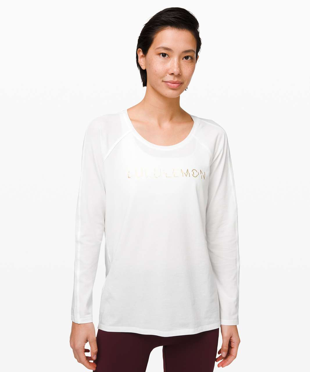 Lululemon Emerald Long Sleeve *Lunar New Year - White