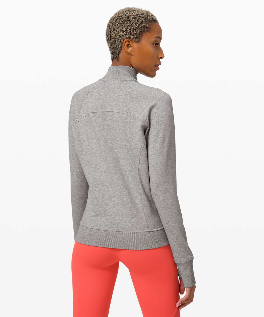 Lululemon Scuba 1/2 Zip - Heathered Core Light Grey