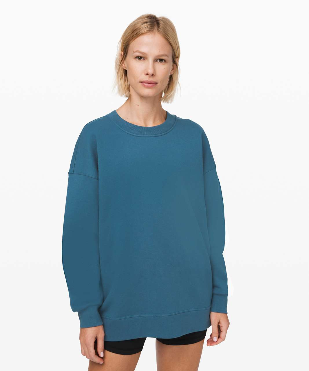 Lululemon Perfectly Oversized Crew - Petrol Blue