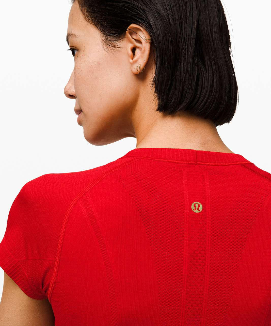 Lululemon Swiftly Tech Short Sleeve Crew *Lunar New Year - Dark Red / Dark Red
