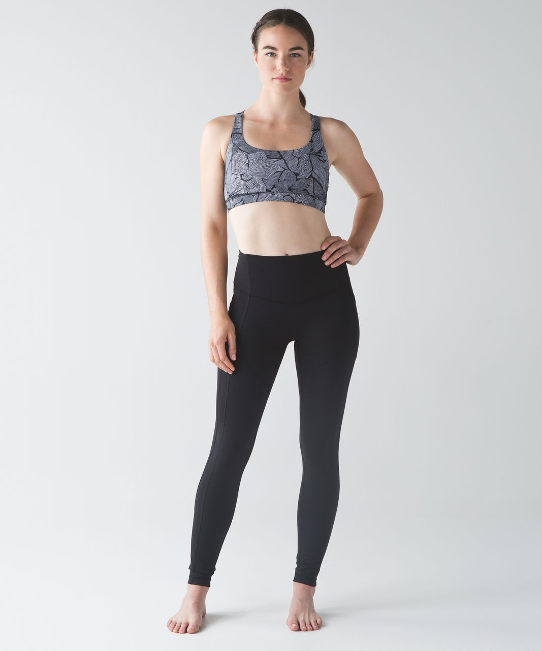 Lululemon Energy Bra - Mini Dottie Tribe White Black