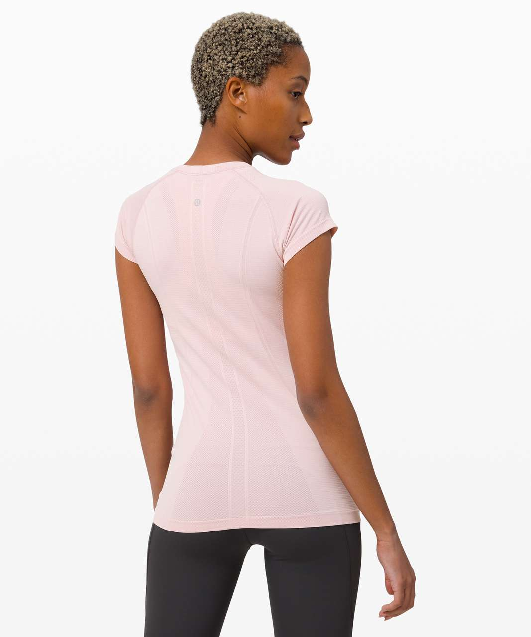 Lululemon Swiftly Tech Short Sleeve Crew - Porcelain Pink / White