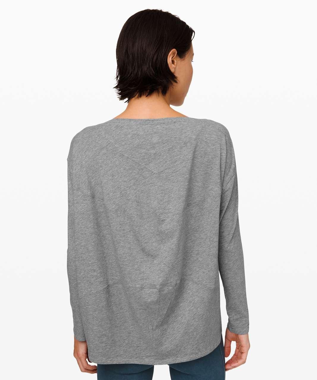 Lululemon Back In Action Long Sleeve - Heathered Core Medium Grey