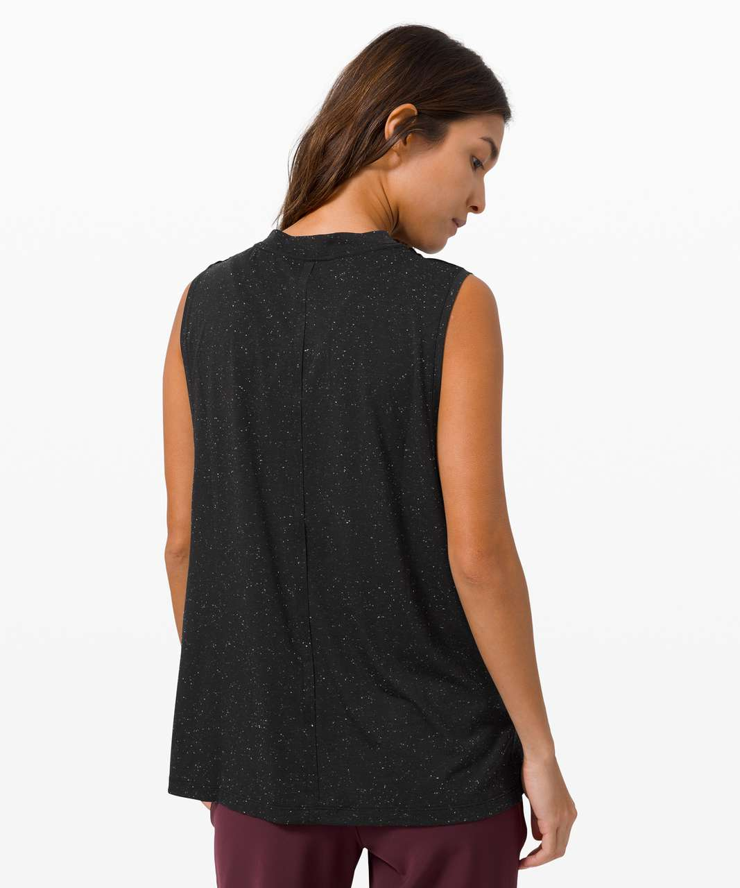 Lululemon All Yours Boyfriend Tank - Black / White