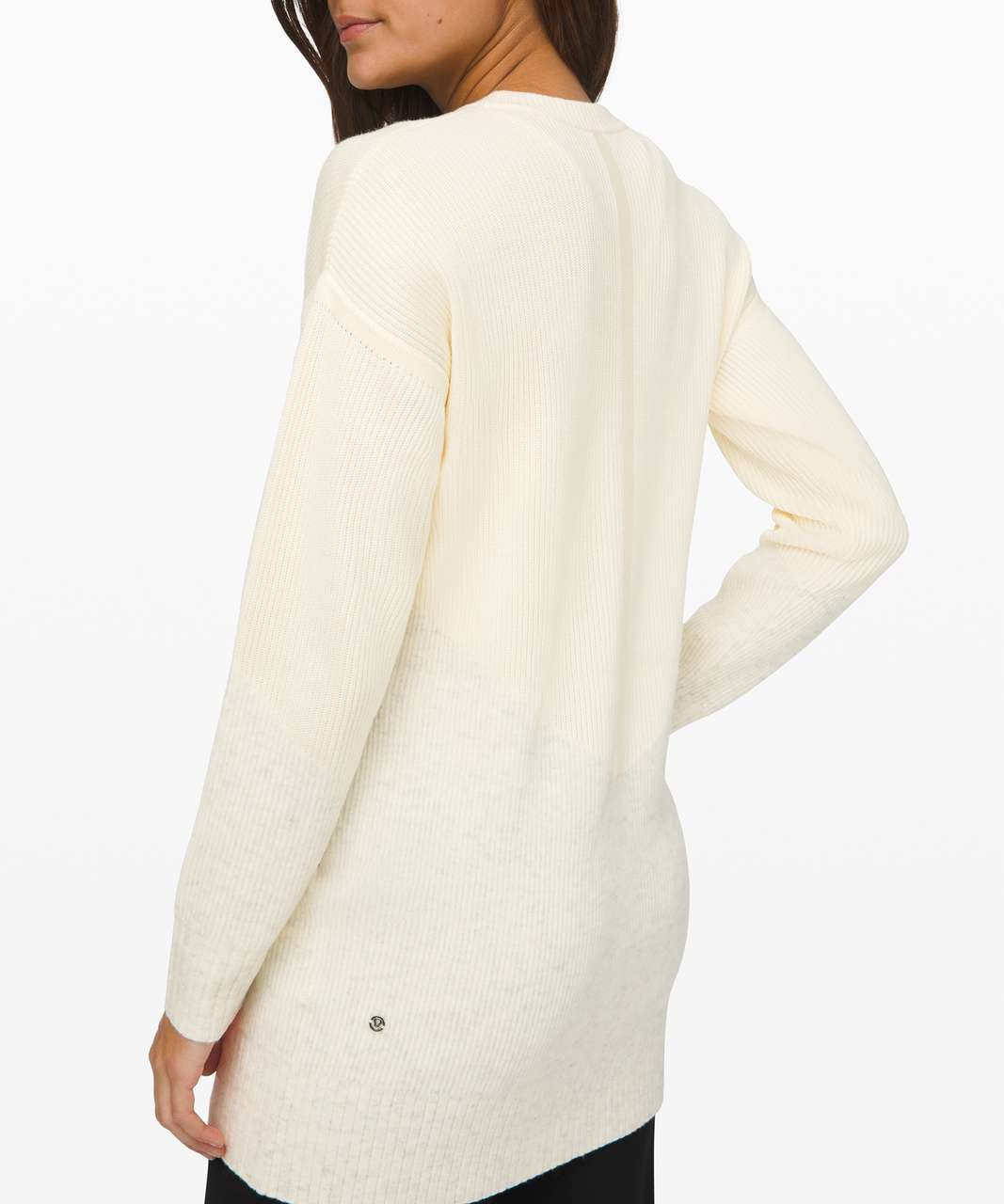 Lululemon Restful Intention Sweater - Angel Wing / Heathered Light Ivory