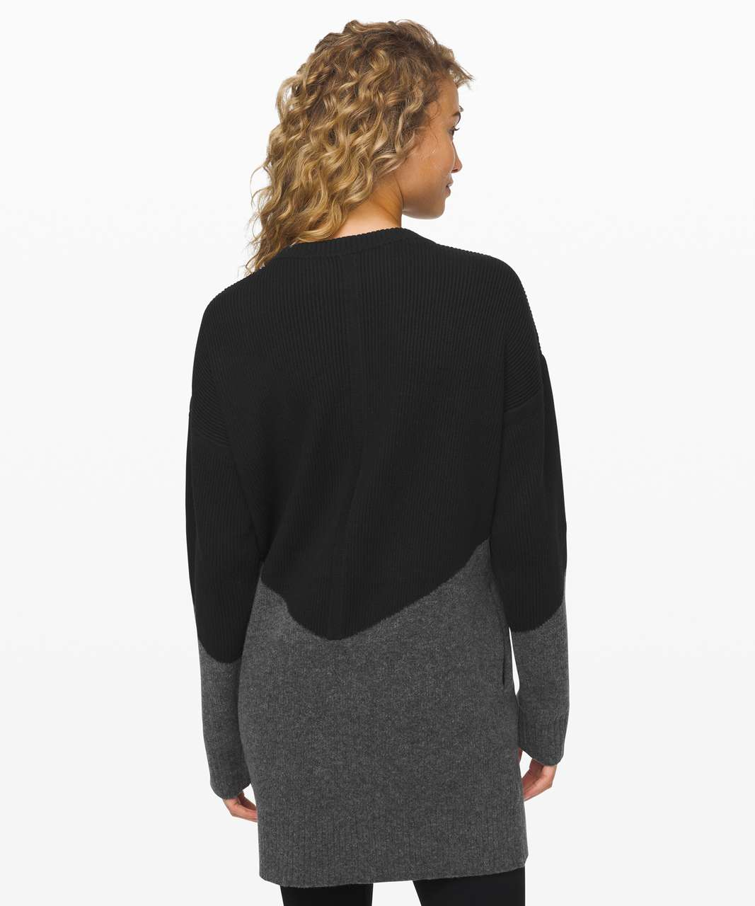 Lululemon Restful Intention Sweater - Black / Heathered Core Dark Grey
