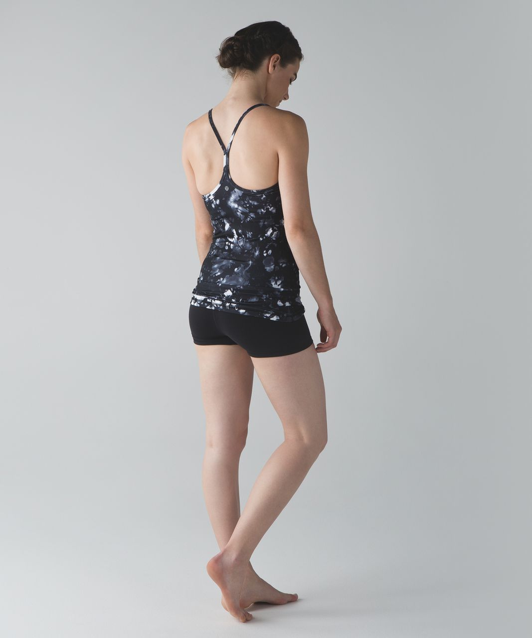Lululemon Power Y Tank (Luon) - Dusk Dye White Black