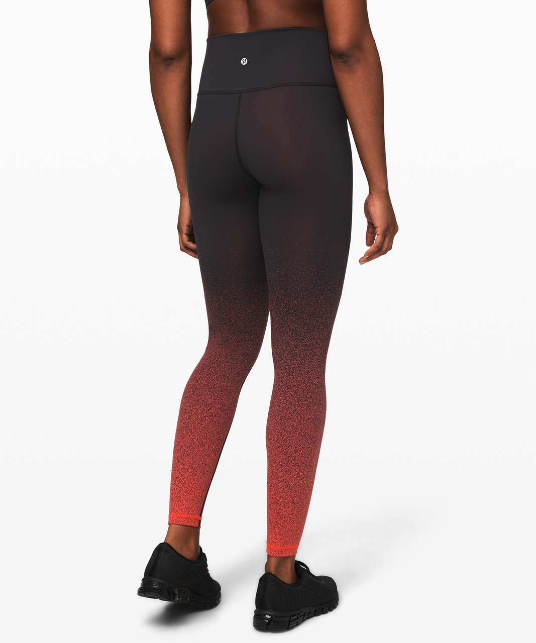 "Lululemon Wunder Under High-Rise Tight (Ombre Speckle) *Full-On Luon 28"" - Ombre Speckle Stop Jacquard WUHR Black Thermal Red"