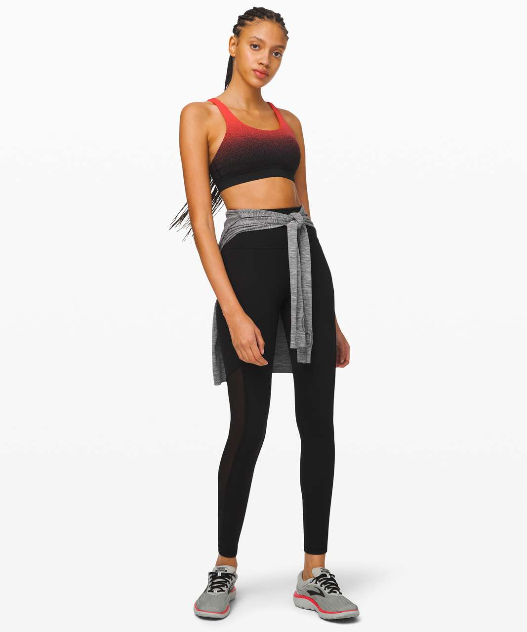 Lululemon Energy Bra *Ombre Speckle - Ombre Speckle Stop Jacquard EB Black Thermal Red