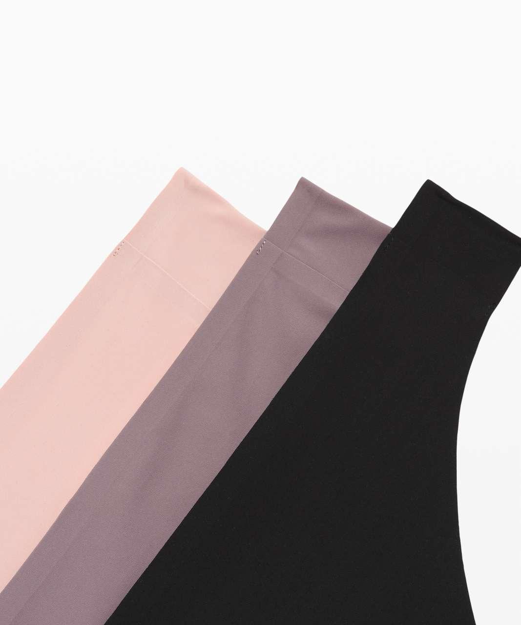 Lululemon Namastay Put Thong 3 Pack - Black / Misty Shell / Lunar Rock
