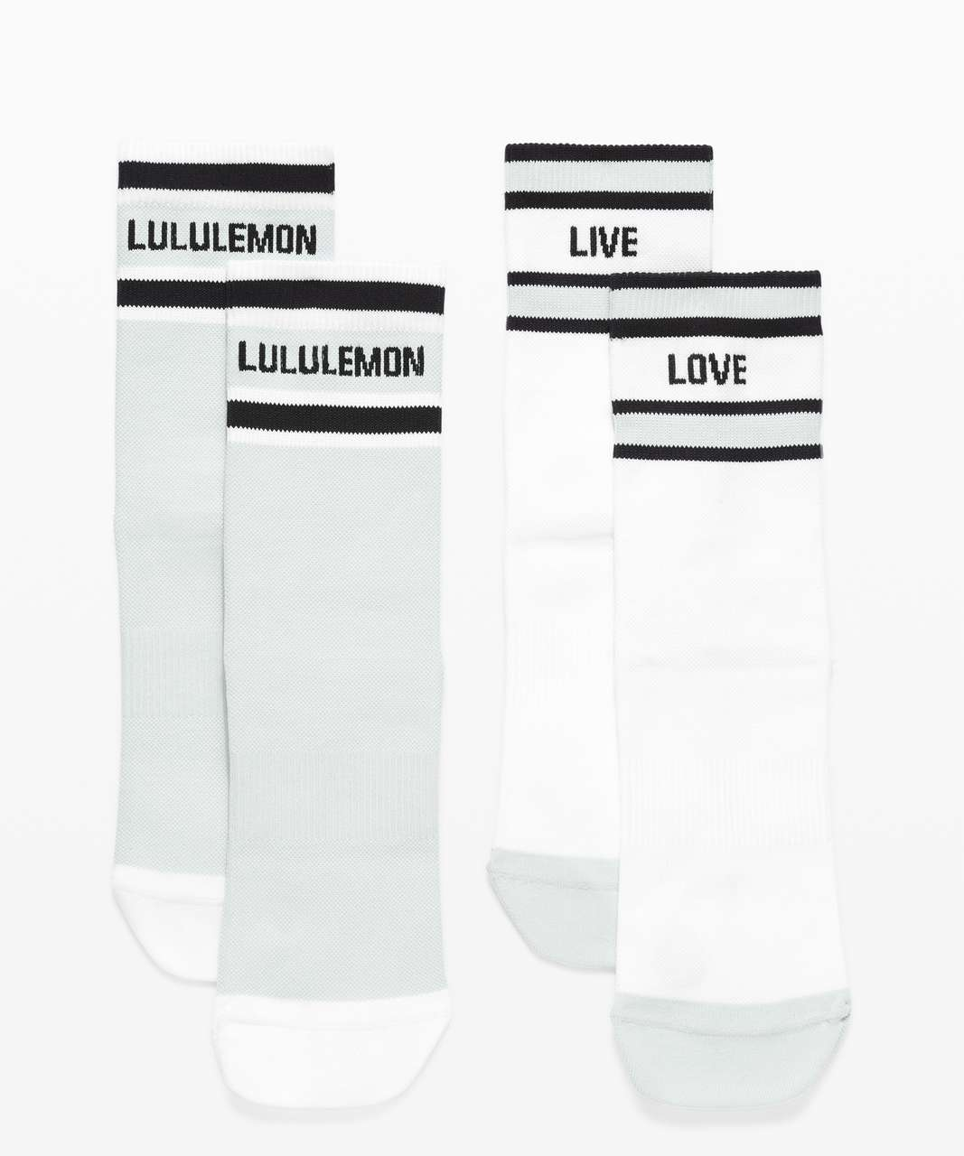 Lululemon Tale To Tell Quarter Sock *2 Pack - White / Black / Vapor