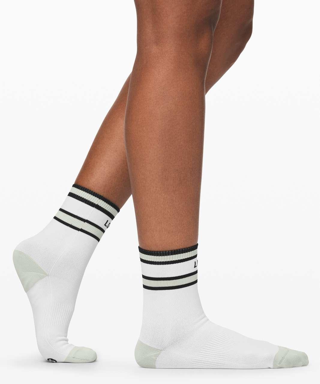Lululemon Tale To Tell Quarter Sock *2 Pack - White / Springtime / Black