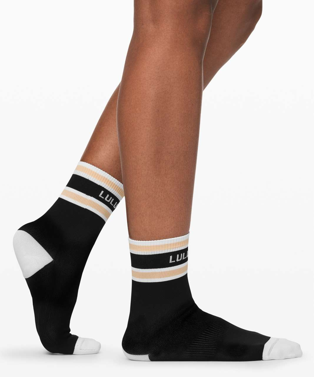 Lululemon Tale To Tell Quarter Sock *2 Pack - White / Ivory Peach / Black