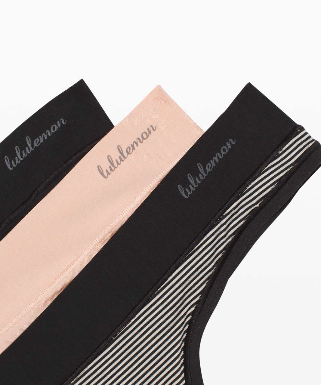Lululemon Mula Bandhawear Thong *3 Pack - Black / Misty Shell / Black