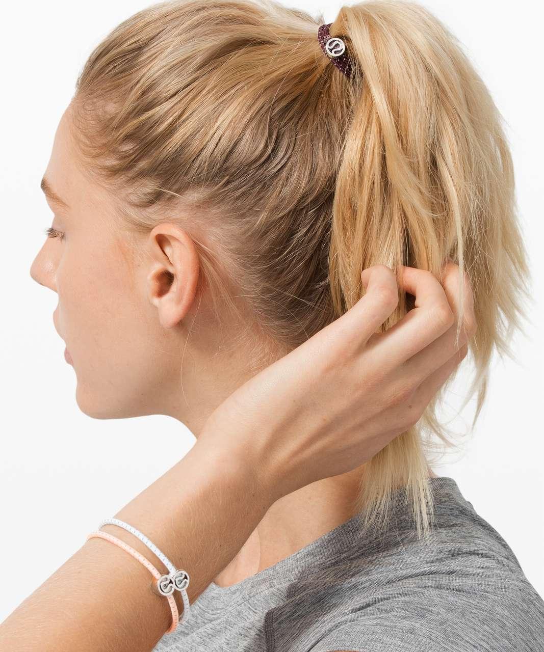 Lululemon Glow On Hair Ties - White / Ballet Slipper / Cassis
