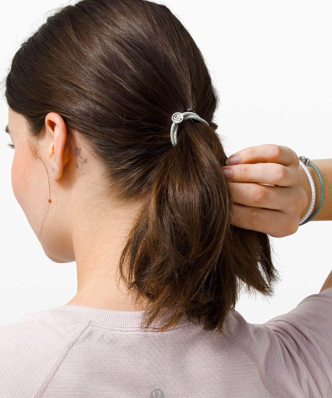 Lululemon Glow On Hair Ties - White / Springtime / Tidewater Teal