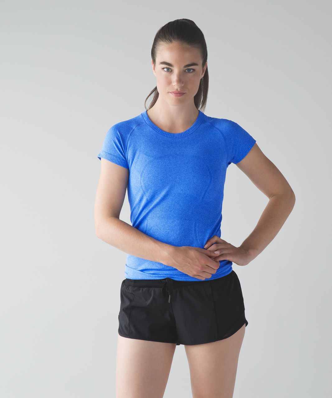 Lululemon Swiftly Tech Short Sleeve Crew - Heathered Harbor Blue