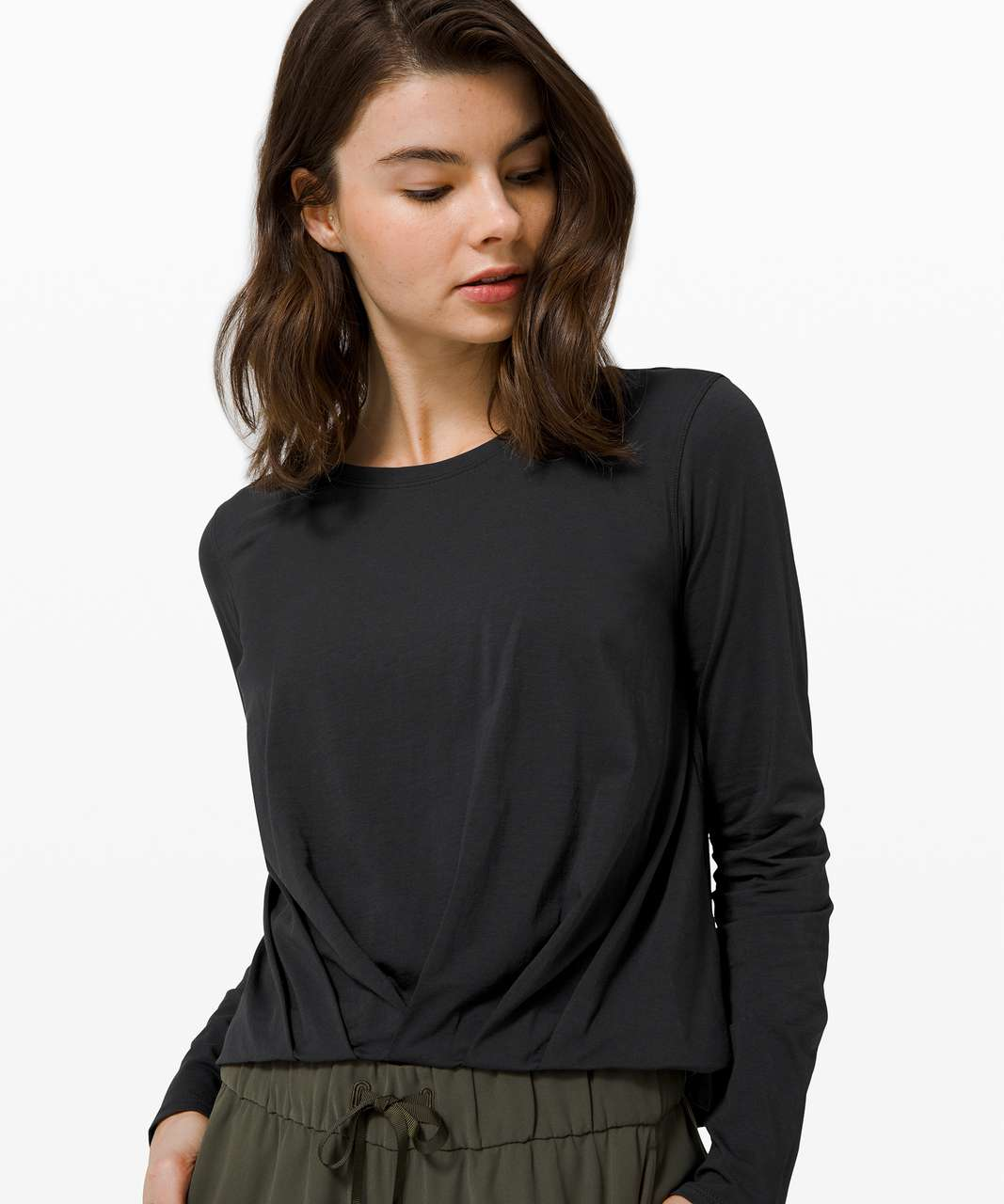 Lululemon Pleats and Thank you Long Sleeve - Black