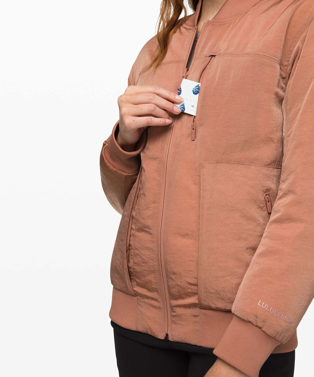 Lululemon Roam Far Bomber - Chalky Rose