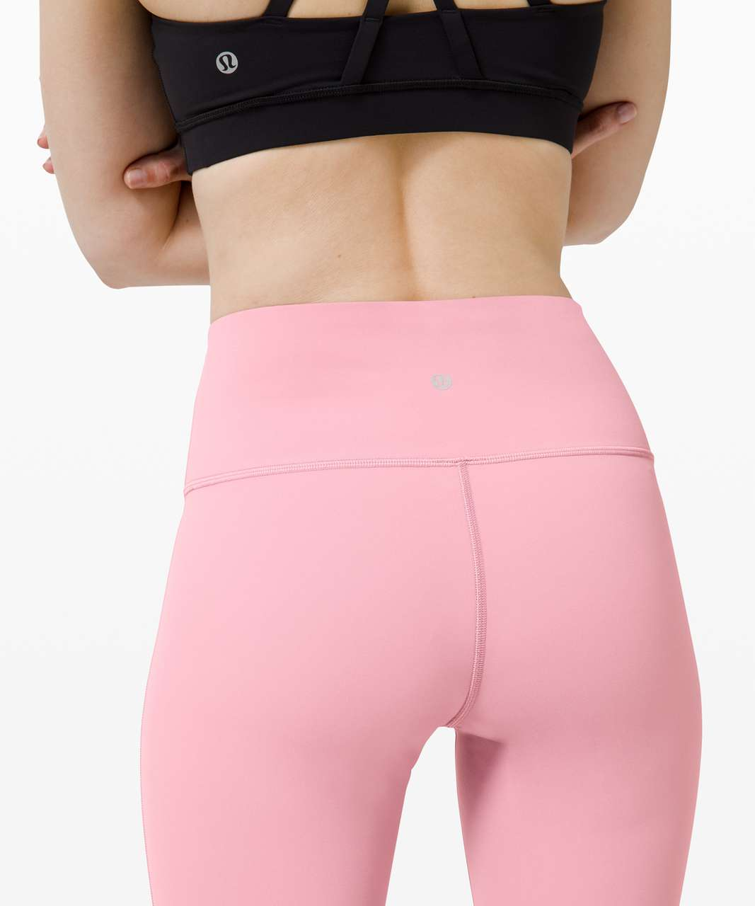 """Lululemon Wunder Under Crop (High-Rise) *Full-On Luxtreme 21"""" - Pink Taupe"""