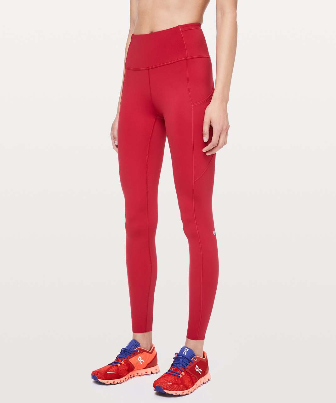 """Lululemon Fast and Free Tight 31"""" *Non-Reflective - Dark Red"""
