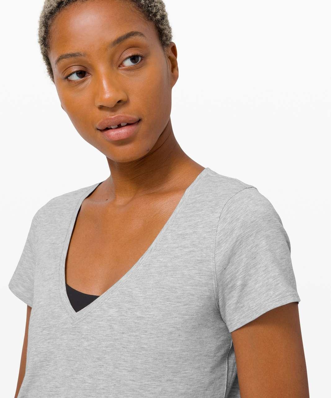 Lululemon Love Tee V - Heathered Core Light Grey