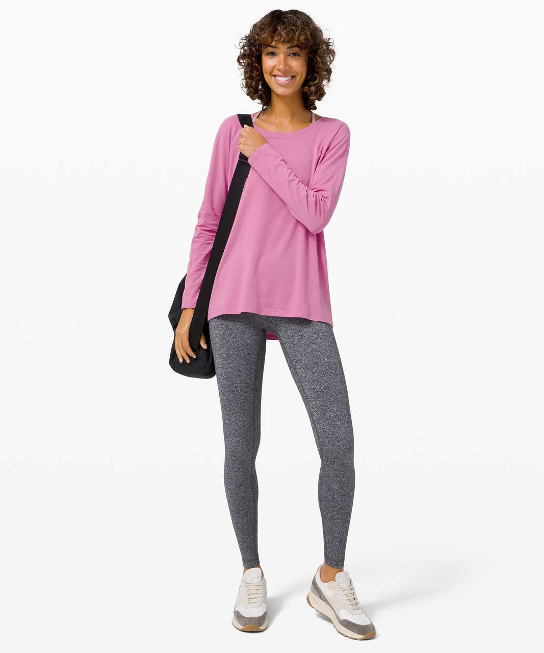 Lululemon Emerald Long Sleeve - Magenta Glow