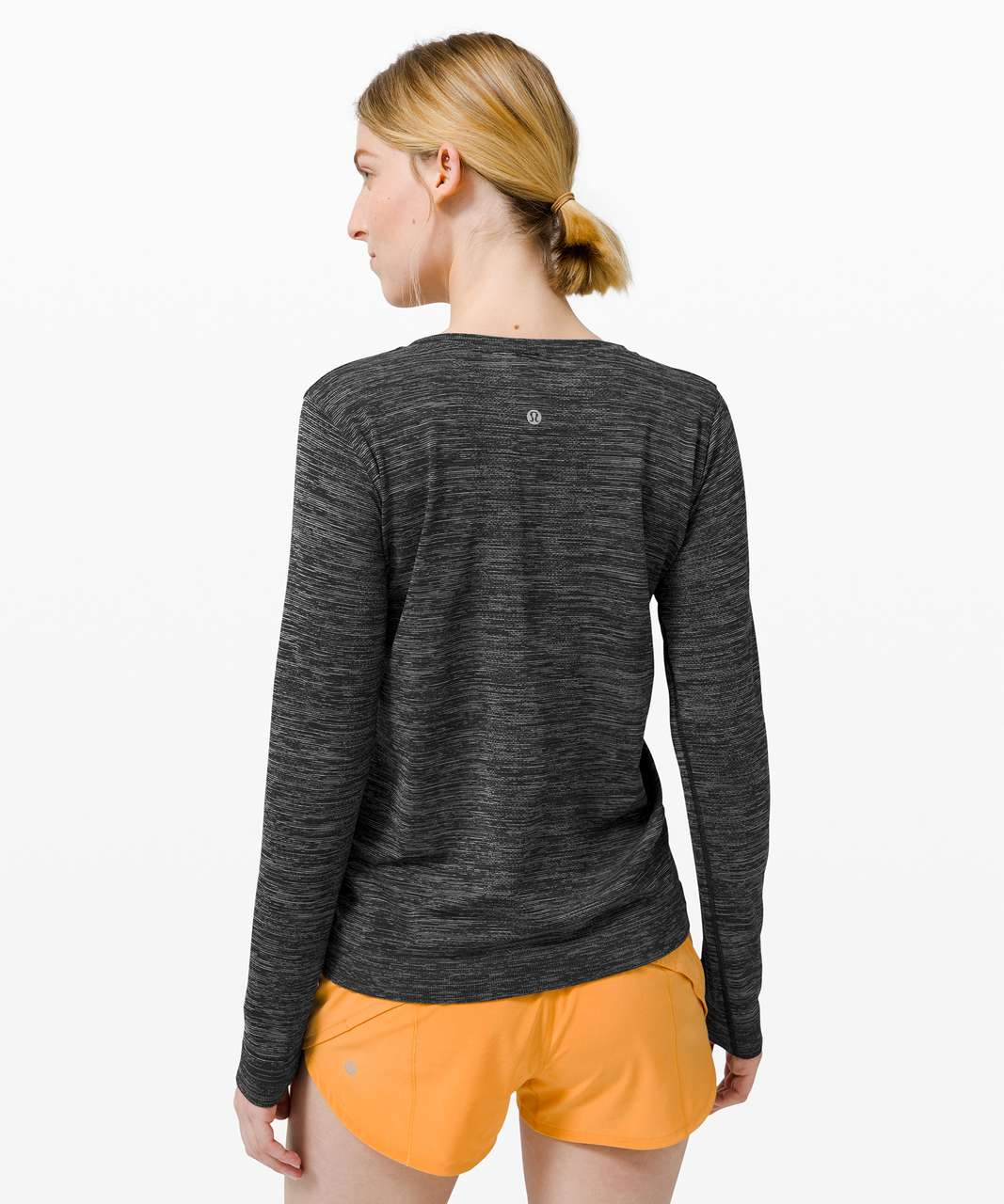 Lululemon Swiftly Relaxed Long Sleeve - Black / White / Black