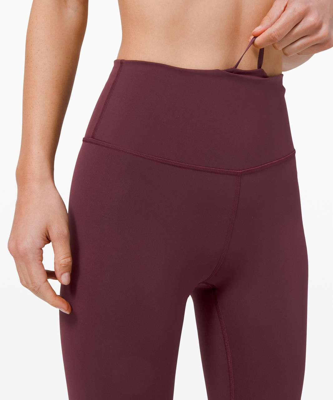 "Lululemon Wunder Train High-Rise Crop 21"" - Cassis"