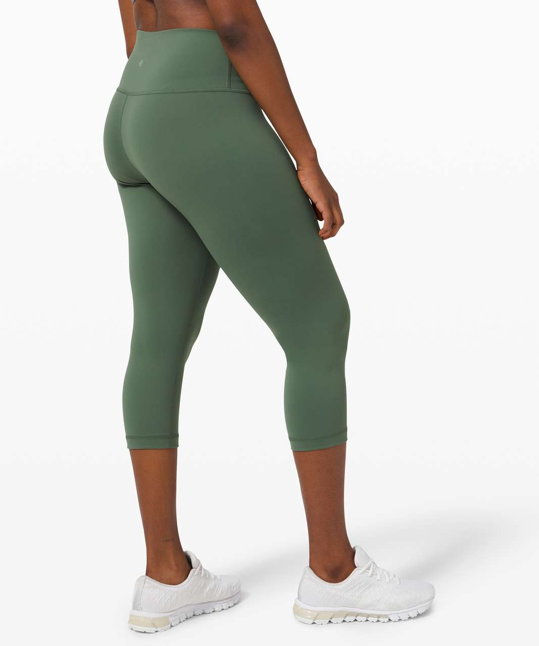 "Lululemon Wunder Train High-Rise Crop 21"" - Algae Green"