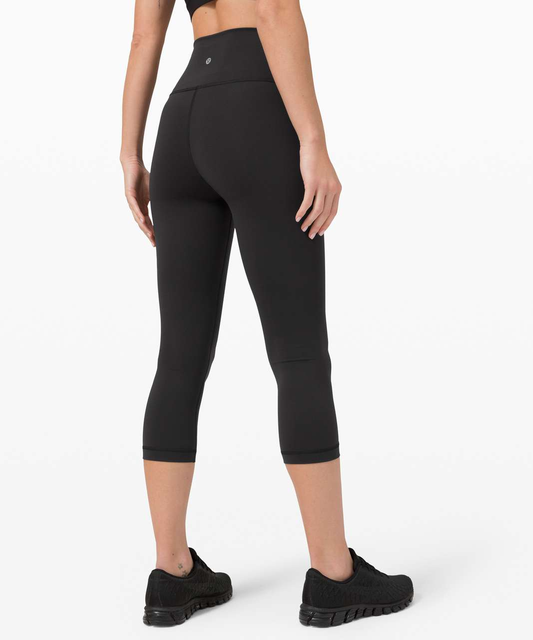 "Lululemon Wunder Train High-Rise Crop 21"" - Black"