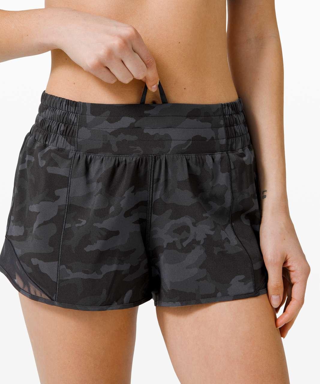 "Lululemon Hotty Hot Short *High-Rise 2.5"" - Incognito Camo Multi Grey / Black"