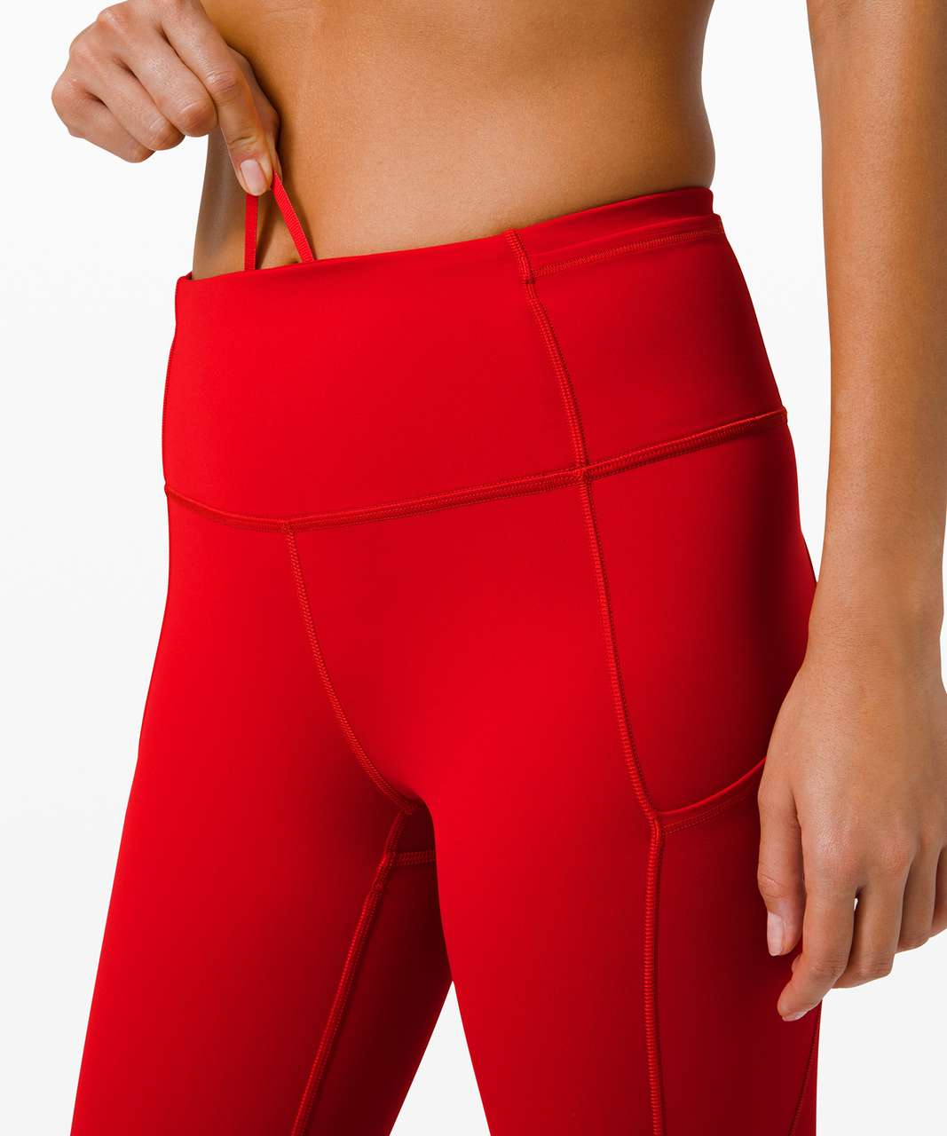 "Lululemon Fast and Free Crop II 19"" *Non-Reflective - Dark Red"