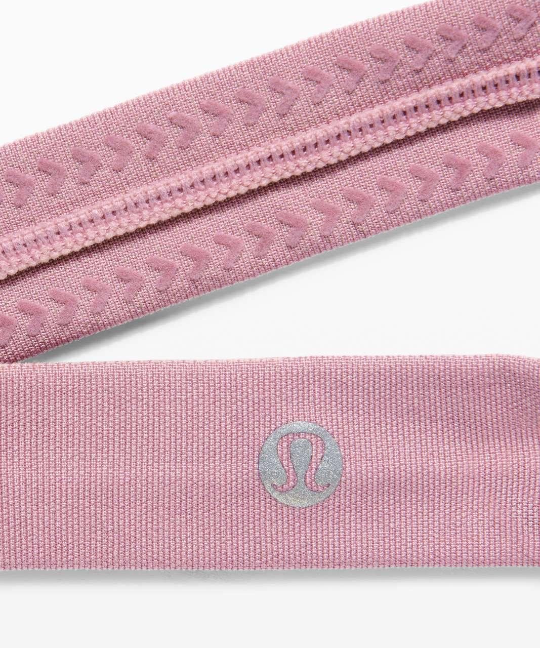 Lululemon Cardio Cross Trainer Headband - Pink Taupe / Ballet Slipper