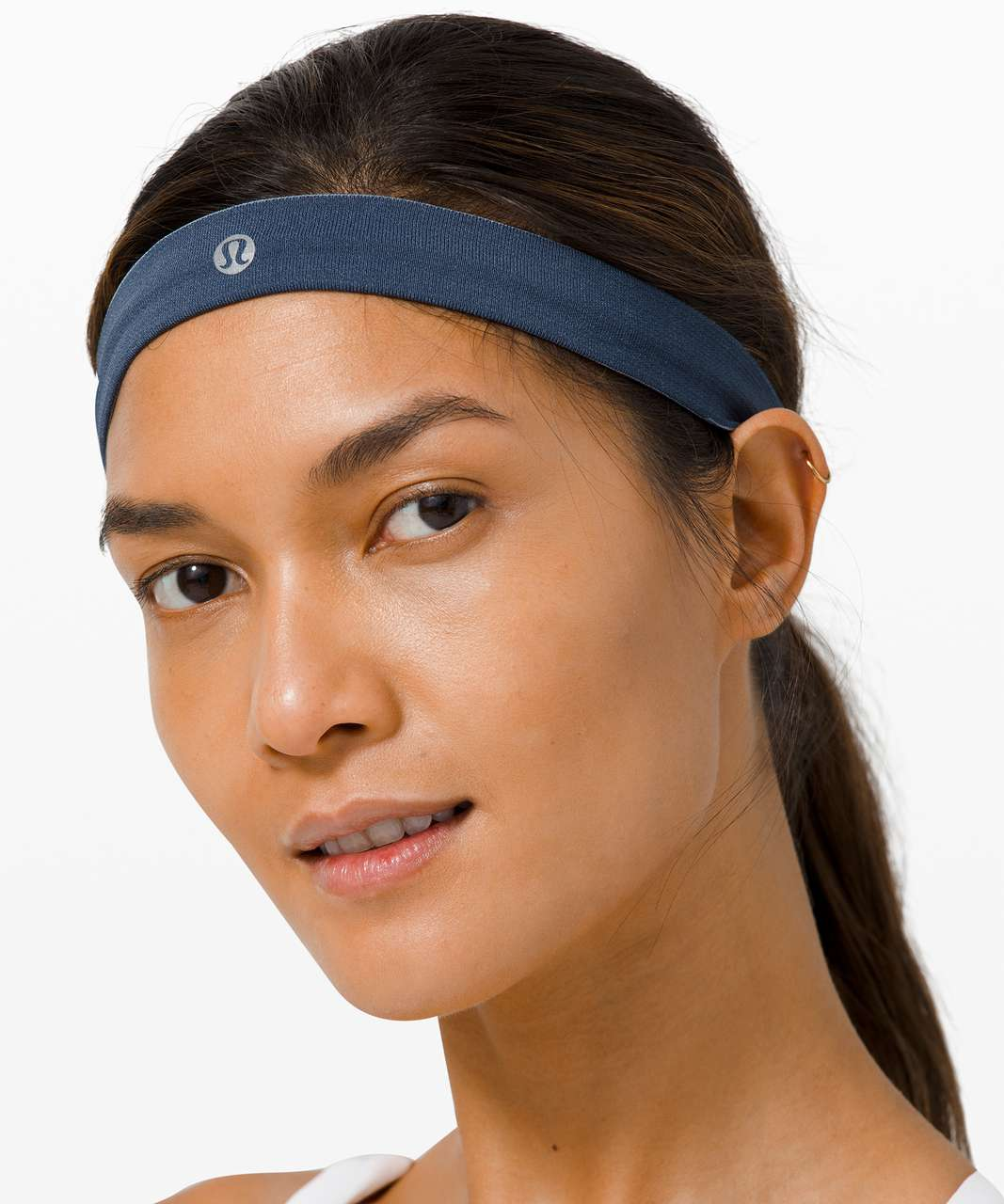 Lululemon Cardio Cross Trainer Headband - Ink Blue / Daydream