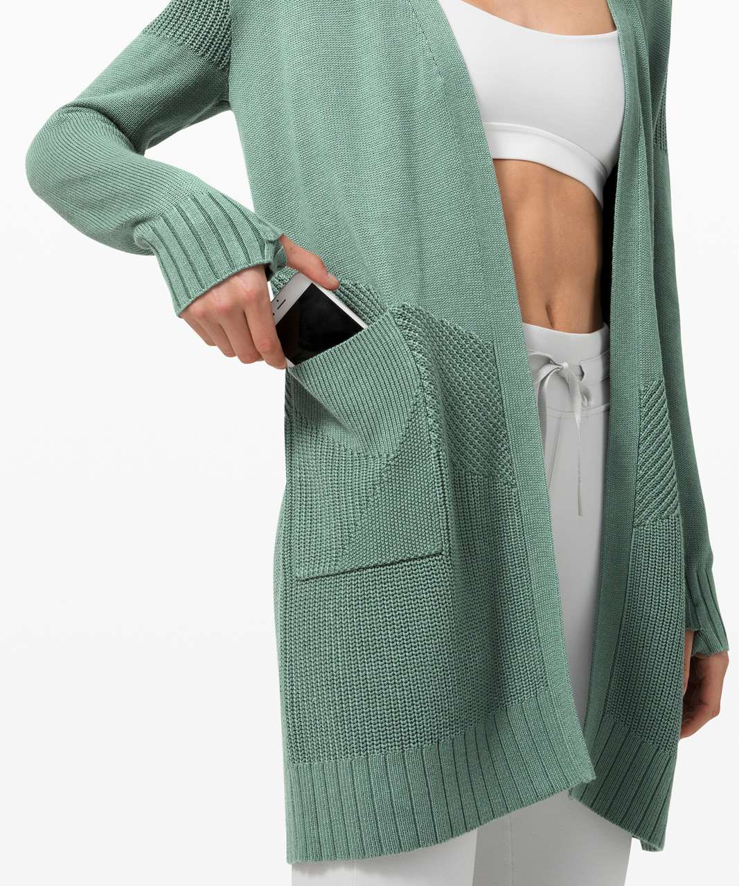 Lululemon Sincerely Yours Wrap Sweater - Tidewater Teal