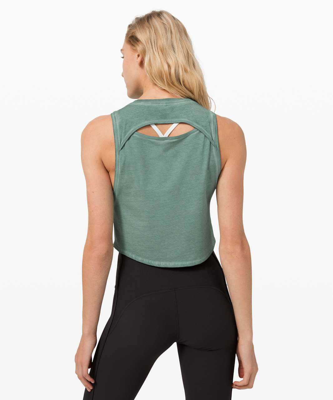 Lululemon Cut Back Crop Tank *Wash - Washed Tidewater Teal