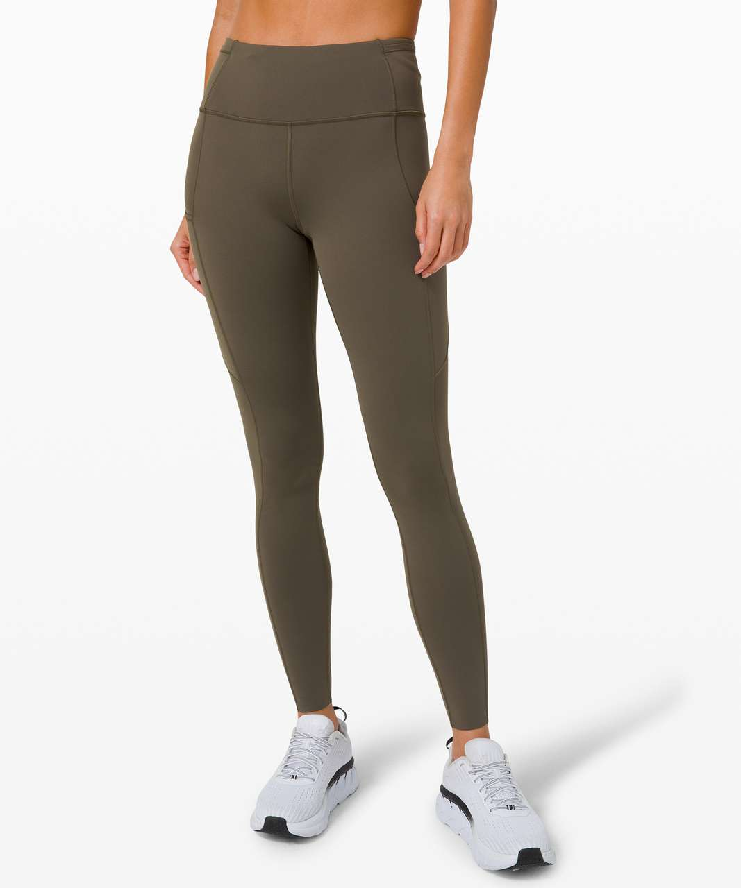 """Lululemon Fast and Free Tight 28"""" *Non-Reflective - Dark Olive"""