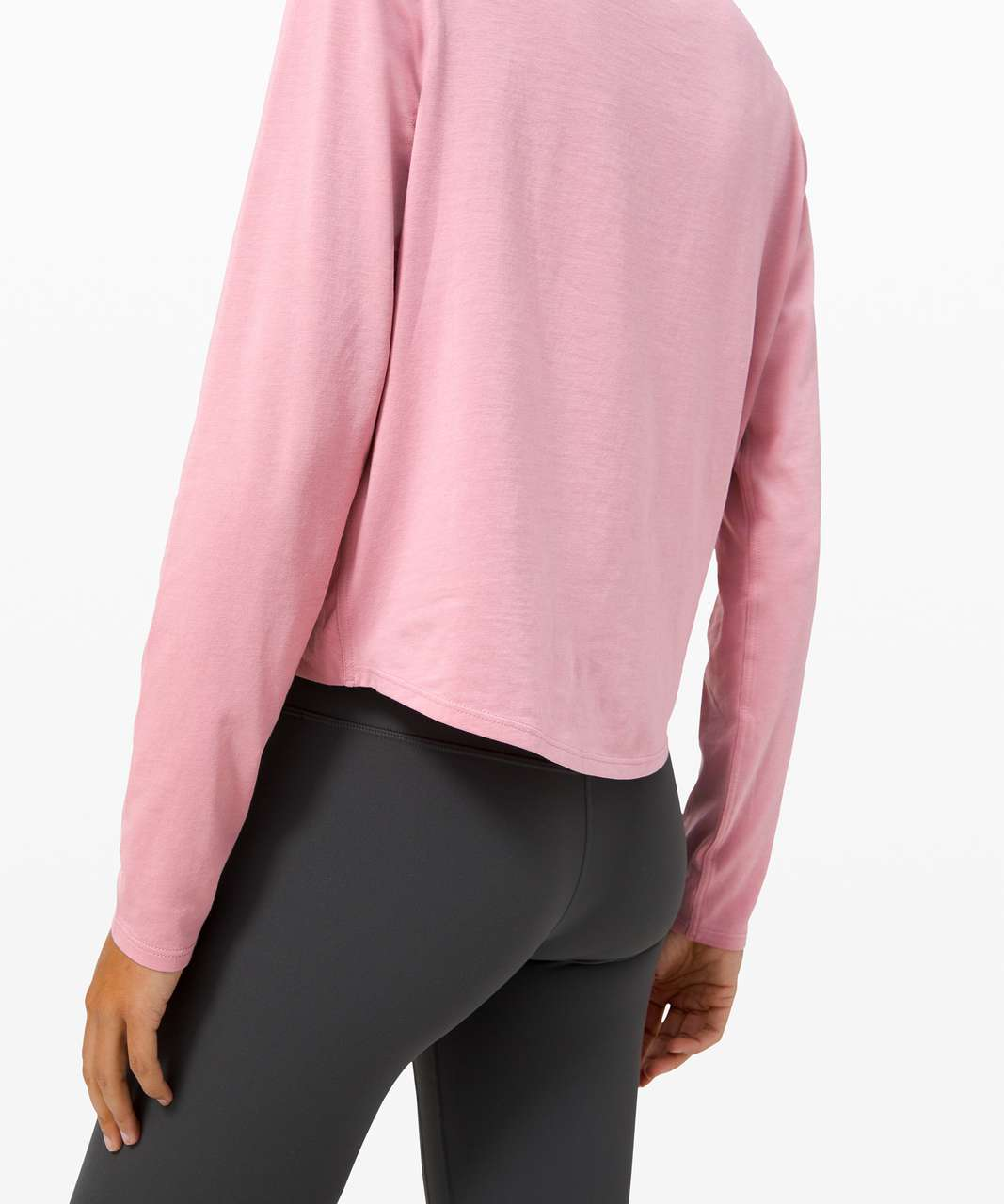 Lululemon Pleats and Thank you Long Sleeve - Pink Taupe