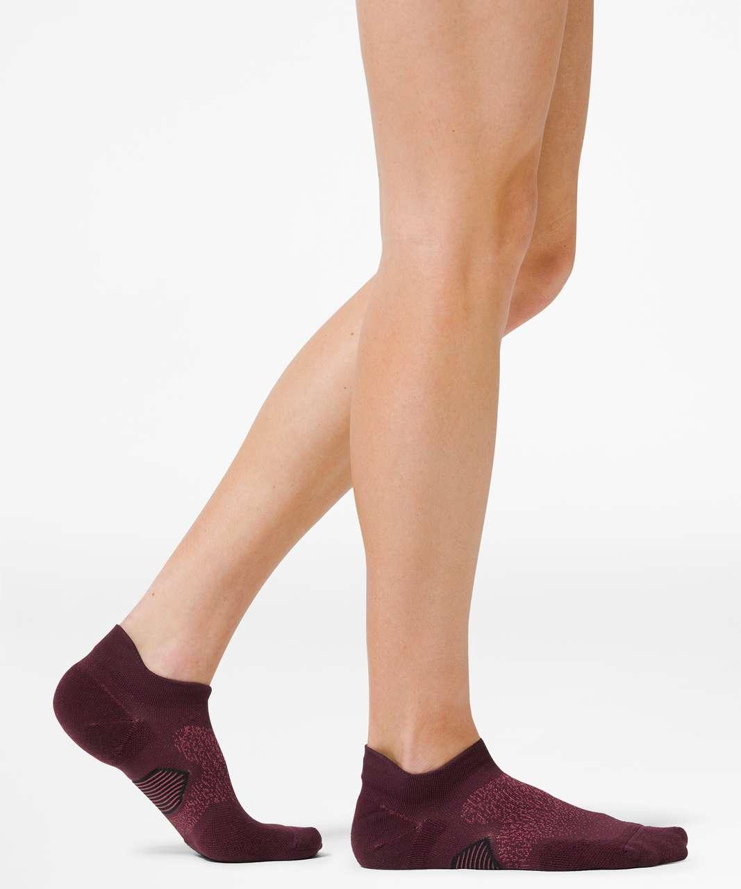 Lululemon Speed Sock *Silver - Cassis / Chianti